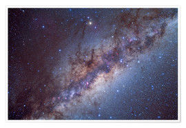 Poster  The center of the Milky Way through Sagittarius and Scorpius. - Alan Dyer