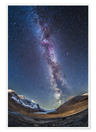 Poster  Milky Way over the Columbia Icefields in Jasper National Park, Canada. - Alan Dyer