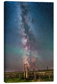 Tableau sur toile  Milky Way over an old ranch corral. - Alan Dyer
