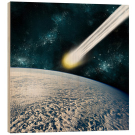 Bois  An Earth-like planet facing an imminent collision with a comet. - Marc Ward