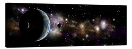 Tableau sur toile  An Earth-like planet with a pair of moons in orbit. - Marc Ward