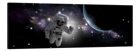 Tableau en aluminium  Astronaut floating in outer space - Marc Ward