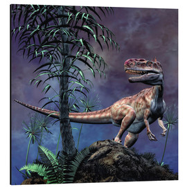 Alu-Dibond  Monolophosaurus was a theropod dinosaur from the Middle Jurassic period. - Philip Brownlow
