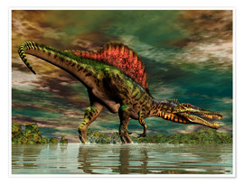Poster  Spinosaurus du Crétacé - Philip Brownlow