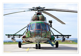 Poster  Slovakian Mi-17 with digital camouflage and gun pod. - Timm Ziegenthaler