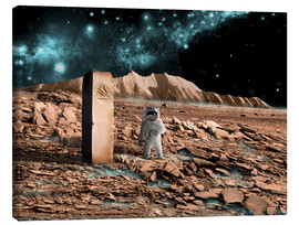 Tableau sur toile  Astronaut on an alien world discovers an artifact that indicates past intelligent life. - Marc Ward