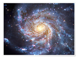 Poster  Messier 101, The Pinwheel Galaxy in Ursa Major. - Robert Gendler