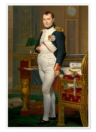 Poster  Vintage painting of The Emperor Napoleon in his study. - John Parrot