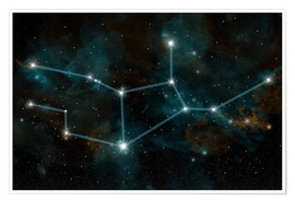 Poster An artist's depiction of the constellation Virgo the Virgin.
