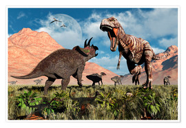 Mark Stevenson - Prehistoric battle between a Triceratops and Tyrannosaurus Rex.