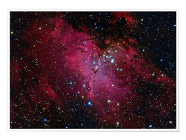 Poster Messier 16, The Eagle Nebula in Serpens.