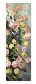 Poster  Dahlias - Claude Monet
