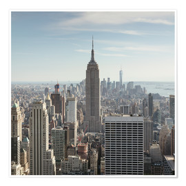 Poster  Manhattan skyline with Empire State building, New York city, USA - Matteo Colombo