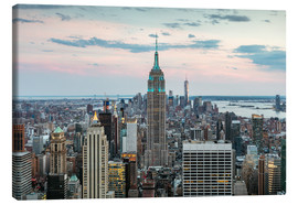 Tableau sur toile  Manhattan skyline with Empire State building at sunset, New York city, USA - Matteo Colombo