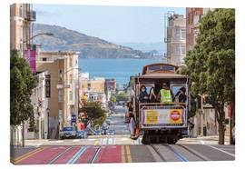 Tableau sur toile  Cable car on a hill in the streets of San Francisco, California, USA - Matteo Colombo
