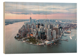Bois  Aerial view of lower Manhattan with One World Trade Center at sunset, New York city, USA - Matteo Colombo