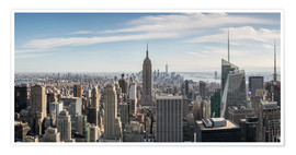Poster Manhattan skyline with Empire State Building