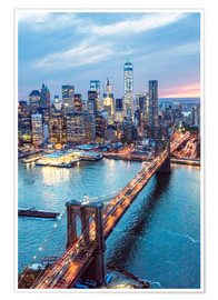 Poster  Pont de Brooklyn et Lower Manhattan - Matteo Colombo