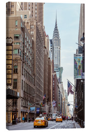 Tableau sur toile  Road at the Chrysler Building - Matteo Colombo