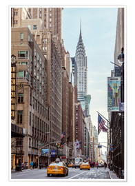 Poster  Road at the Chrysler Building - Matteo Colombo