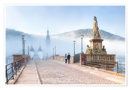 Poster  Karl Theodor Bridge and Old Town in Heidelberg, Germany - Jan Christopher Becke