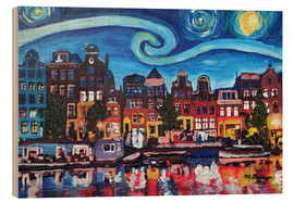 Bois  Starry Night over Amsterdam Canal with Van Gogh Inspirations - M. Bleichner