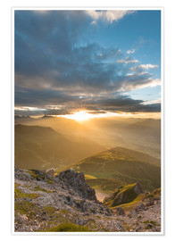 Poster Sunset in the Tyrolean Alps
