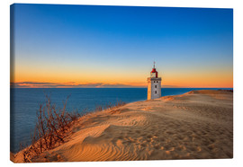 Tableau sur toile  Lighthouse in the dunes - Reemt Peters-Hein
