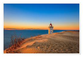 Poster  Lighthouse in the dunes - Reemt Peters-Hein