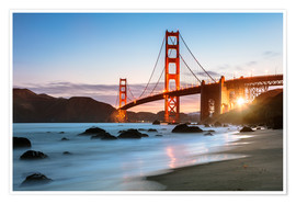 Poster Pont mystique du Golden Gate