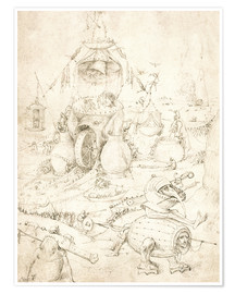 Poster  Hell scene of the Last Judgment - Hieronymus Bosch