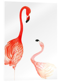 Verre acrylique  Flamingo Love - Rongrong DeVoe