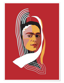 Poster Frida abstraite