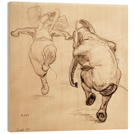 Bois  Two dancing elephant - Heinrich Kley