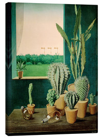 Toile  Cacti and semaphores - Georg Scholz