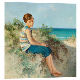 Verre acrylique  Girl in the dunes by the North Sea beach on Sylt - Hermann Seeger