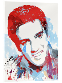 Tableau en verre acrylique  Elvis Presley pop art - 2ToastDesign