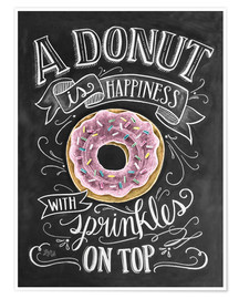 Poster  A Donut is Happiness - Lily & Val