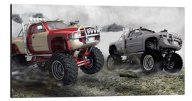 Tableau en aluminium  Course de monster truck - Kalle60