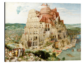 Alu-Dibond  The Tower of Babel - Pieter Brueghel d.Ä.