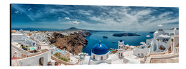 Tableau en aluminium  Santorini, photo panoramique - Stefan Becker