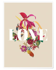 Poster  Exotic Love flowers botanical art - Nory Glory Prints