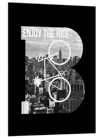 Tableau en PVC  Enjoy the ride bicycle graphic monogram - Nory Glory Prints