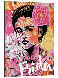 Alu-Dibond  Frida Kahlo Pop Art - Nory Glory Prints