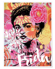 Poster  Frida Pop Art - Nory Glory Prints