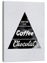 Tableau sur toile  Pyramid Food graphic coffee chocolat logo parody art - Nory Glory Prints