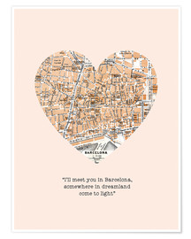 Poster  I'll meet you in Barcelona - Nory Glory Prints