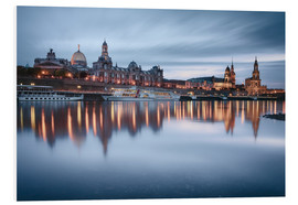 Tableau en PVC  Dresden old town at the blue hour - Philipp Dase