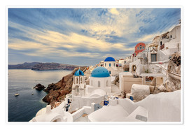 Poster View of Oia, Santorini
