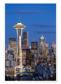 Poster  Space Needle - Seattle - Thomas Klinder